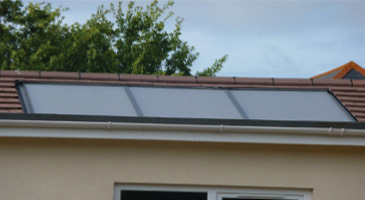 solar thermal hot water panels